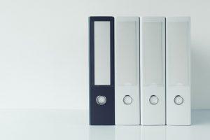Archival document files ring binder folders
