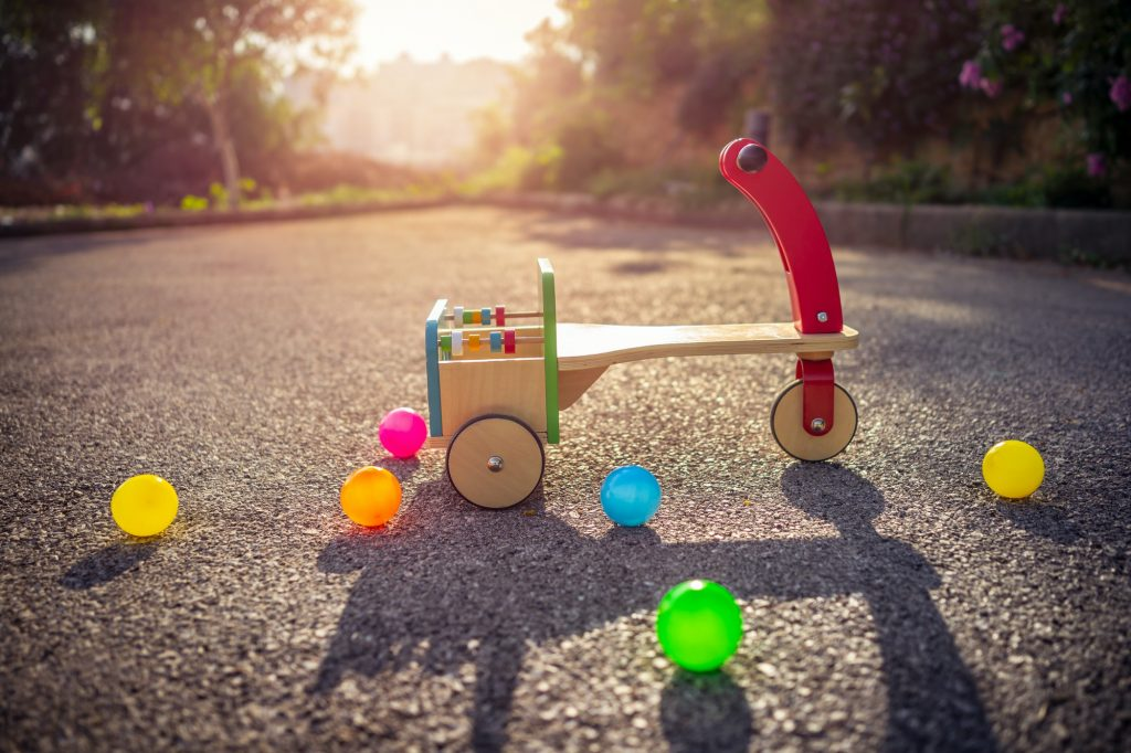 Child's bicycle on playground