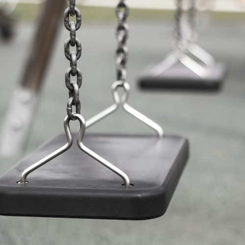 Swing in the playground
